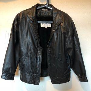 Korea vintage leather jacket